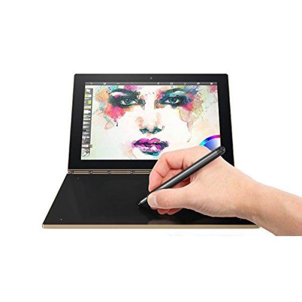 Lenovo Yoga Book 10.1 2 in 1 Convertible Full HD IPS Touchscreen Laptop/Tablet with Pen Stylus - Intel Quad-Core x5-Z8550, 4GB RAM, 64GB SSD, Halo Keyboard, 802.11ac, Bluetooth, Android- Gold - intl