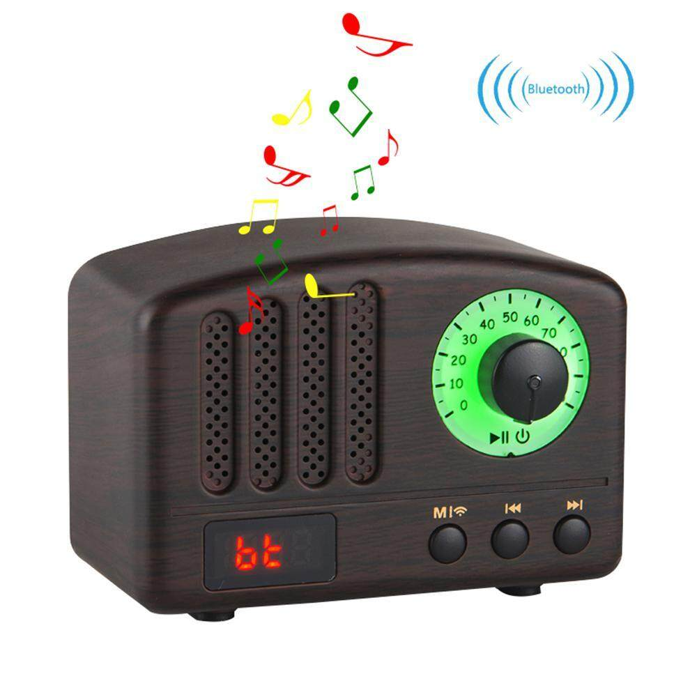 Hình ảnh niceEshop Retro Bluetooth Speaker Color LED Light Portable Subwoofer And Microphone Frequency Modulation