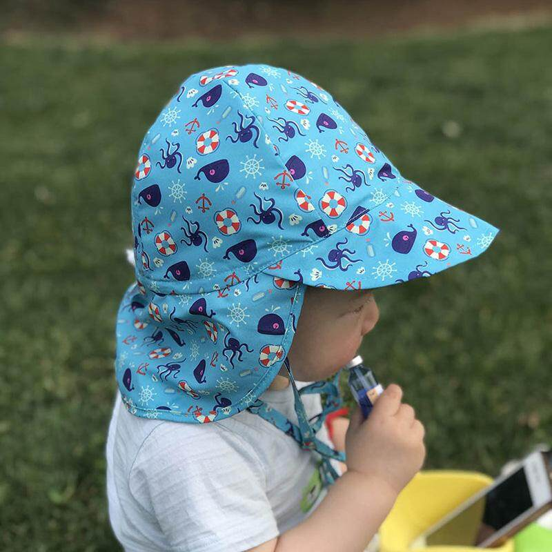 ae59fb709c4 Summer Baby Boy Girl Sun Hat Outdoor Sun Beach Hats Kids Children Neck Ear  Cover Anti