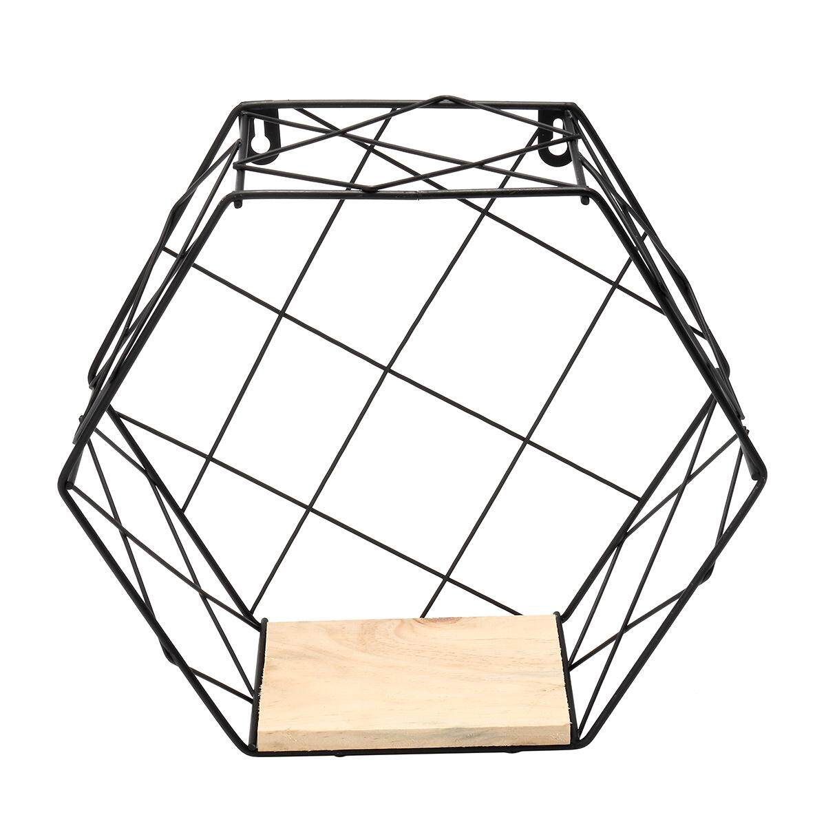 Nordic Wind Hexagon Geometry Shelf By Moonbeam.