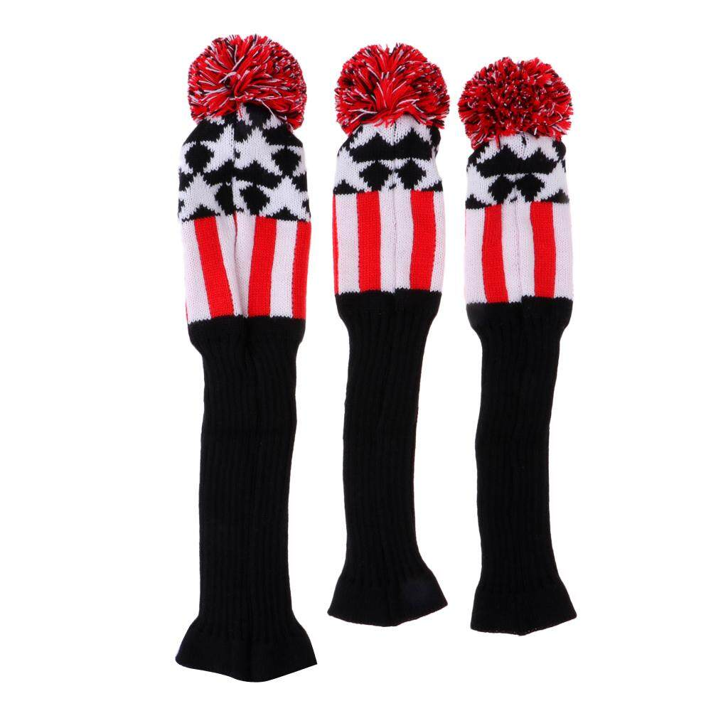9f96816d6 Miracle Shining 3Pcs Golf Pom Pom Knit Headcover Fairway Woods Driver  Hybrid Head Covers Red Singapore