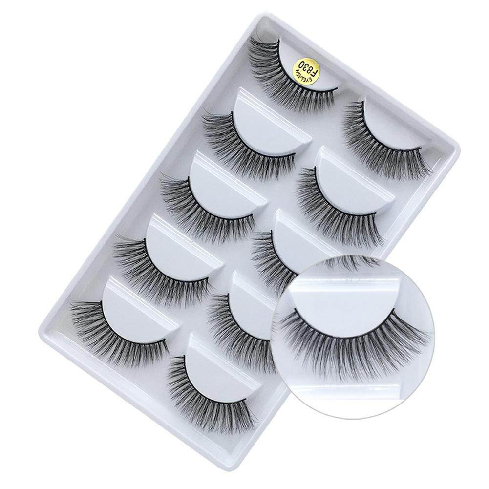 Makeup Tool Reusable Thick Soft False Eyelash 3D Long Mink Hair Handmade (F830 ) Philippines