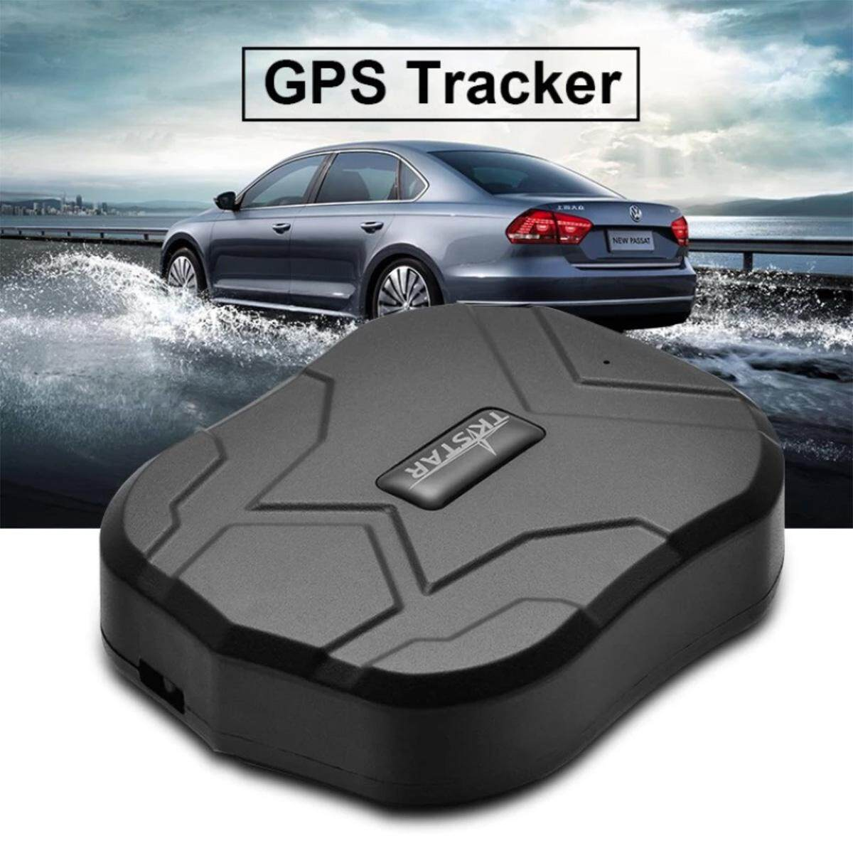 Tk905 Waterproof Vehicle Car Gps Tracker Locator - Black (with Box) By Sea Center.