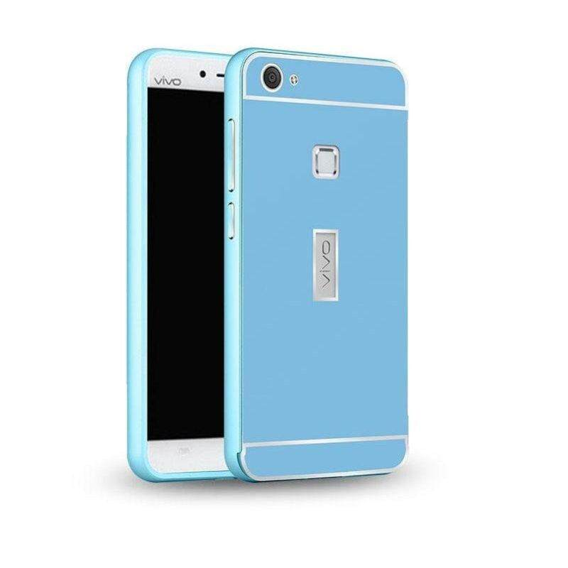 The cool cat vivo x is 6 cellular phone hull X6 plus D cellular phone metal frames+PC back plank the at every step high X6 As/X6s L men and women protect the outer shell X6 MAX cellular phone set(The X6-the sky is blue 【send to stick a film 】)