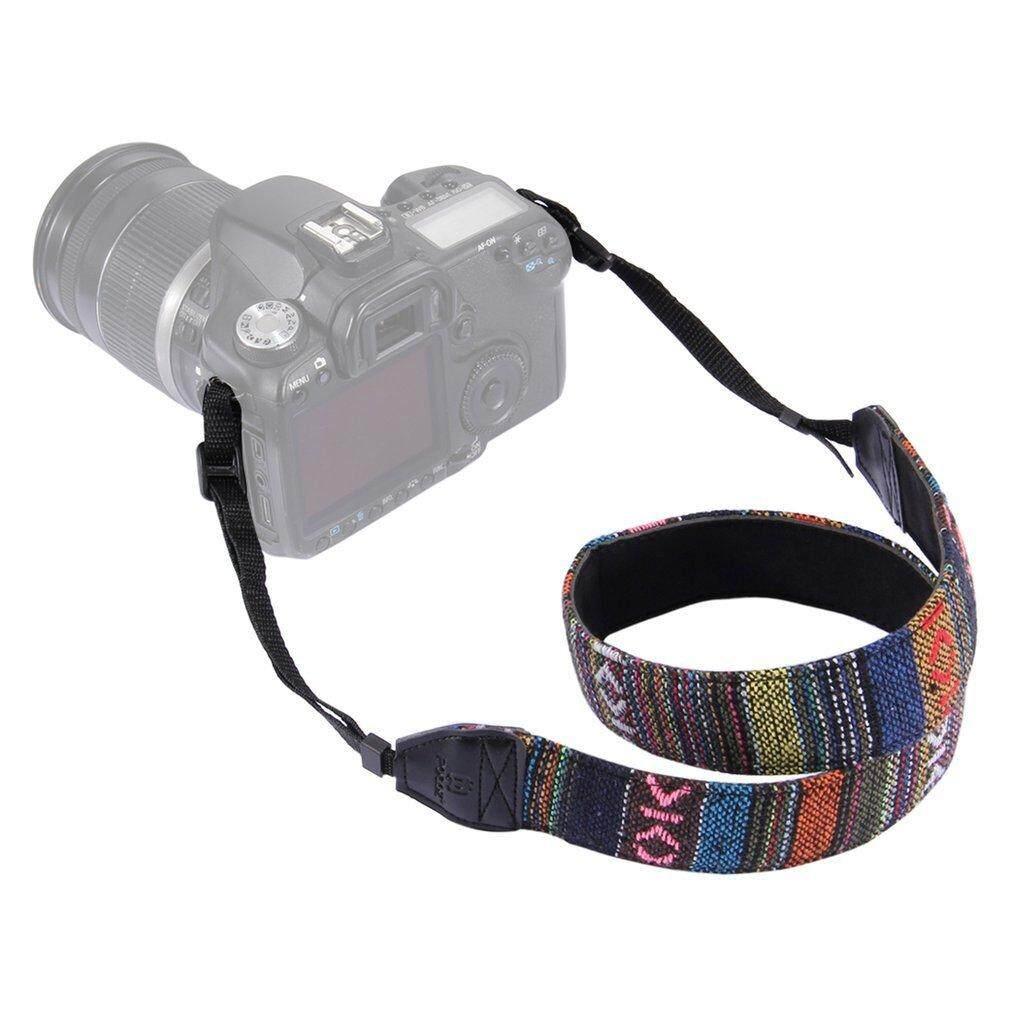 Catwalk Puluz Vintage Nasional Angin Tahan Lama Adjustable Kamera Lembut Tali Selempang Bahu dan Leher