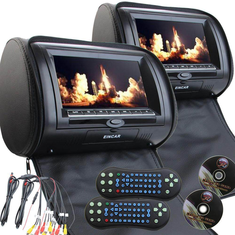 Headrest Monitor For Sale Car Online Brands Infrared Headphones Transmitter Circuit Eincar Black Color Twin Pillow Monitors Dvd Player Region Free 7