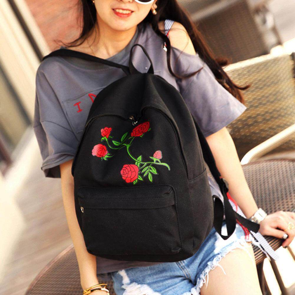 ... AIZHIYI Brand Women s Backpack Floral Rose Print Bag Large Capacity  Teenagers School Bag Knapsack Backpacks for 5c6fdc06fa