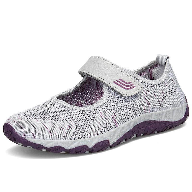STF Tengah Usia dan Wanita Tua Sepatu Jalan Ventilasi Nyaman Kasual Olahraga  Sneakers 779e6a1e63