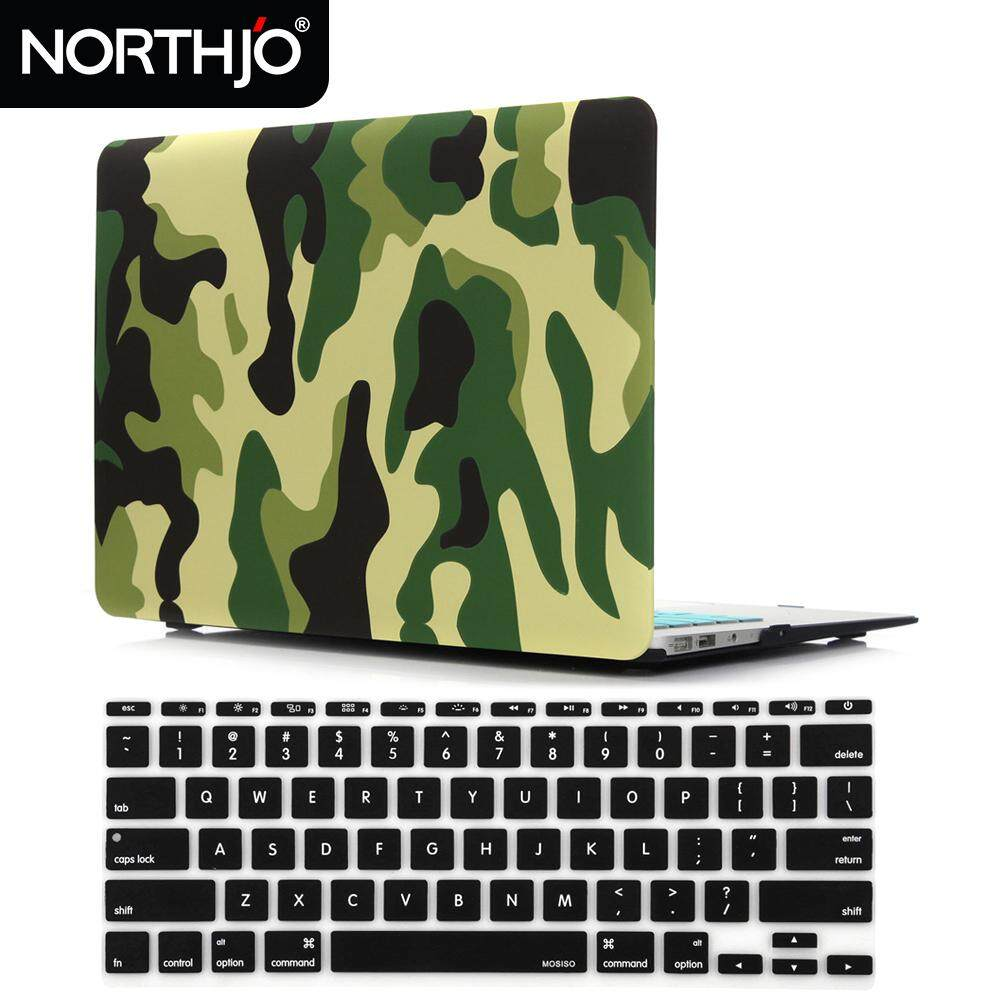 NORTHJO 2 in 1 Plastic Pattern Hard Case and Keyboard Cover for MacBook Air 11 inch