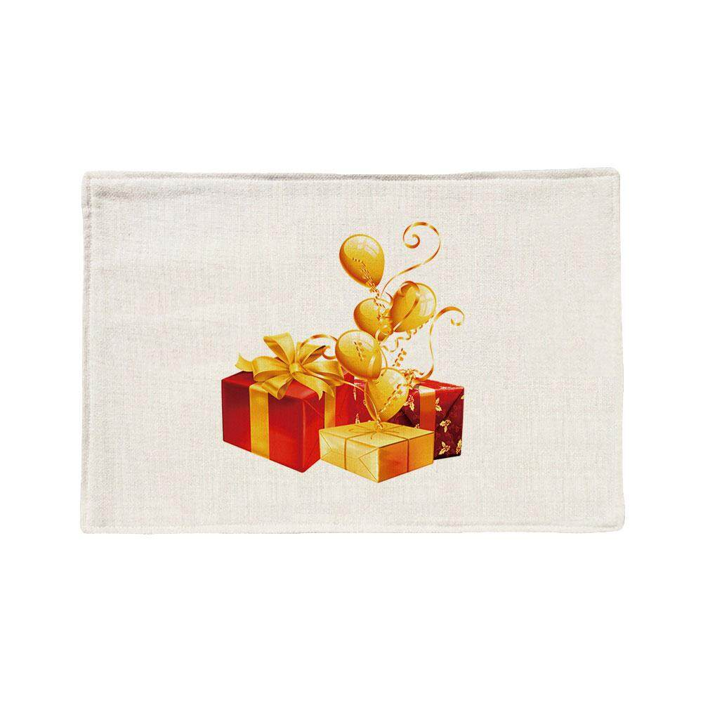 Selamat Natal Hadiah Dicetak Tatakan Meja Alas Makan Malam Non-Slip Panas Bantalan Insulasi Coaster