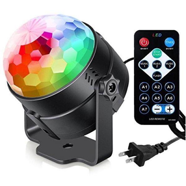 Sound Activated Party Lights with Remote Control Dj Lighting, RBG Disco Ball, Strobe Lamp 7 Modes Stage Par Light for Home Room Dance Parties Birthday DJ Bar Karaoke Xmas Wedding Show Club Pub - intl