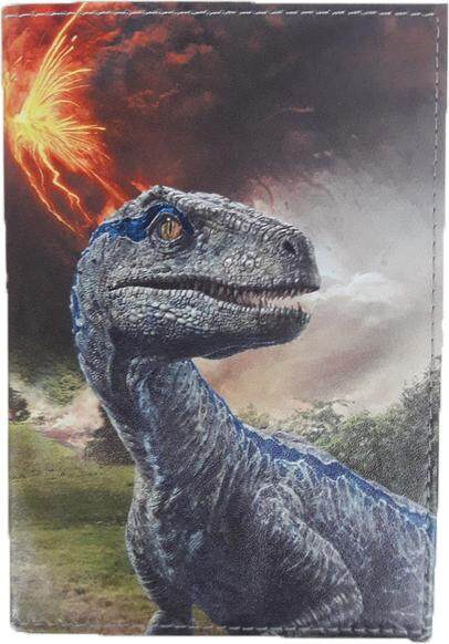 Jurassic World Passport Holder Featuring Raptor & T-Rex