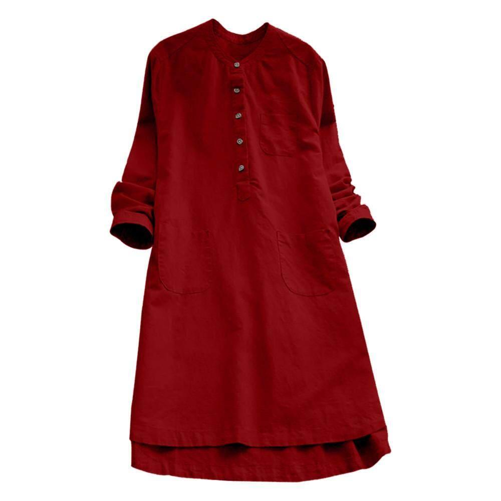 ... Dress Wanita / Blouse. Source ·. Source · Rp 146.470. Fashion Wanita Lengan Panjang Retro Kasual Longgar Atasan Berkancing Blus .