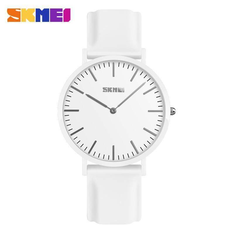 Nơi bán SKMEI 9179 Fashion Couple Quartz Watch Casual Lover Unisex Simple Wristwatch 7mm Fashional Super Slim Design Silica Gel Strap 30m Water Resistant Men Women Watch