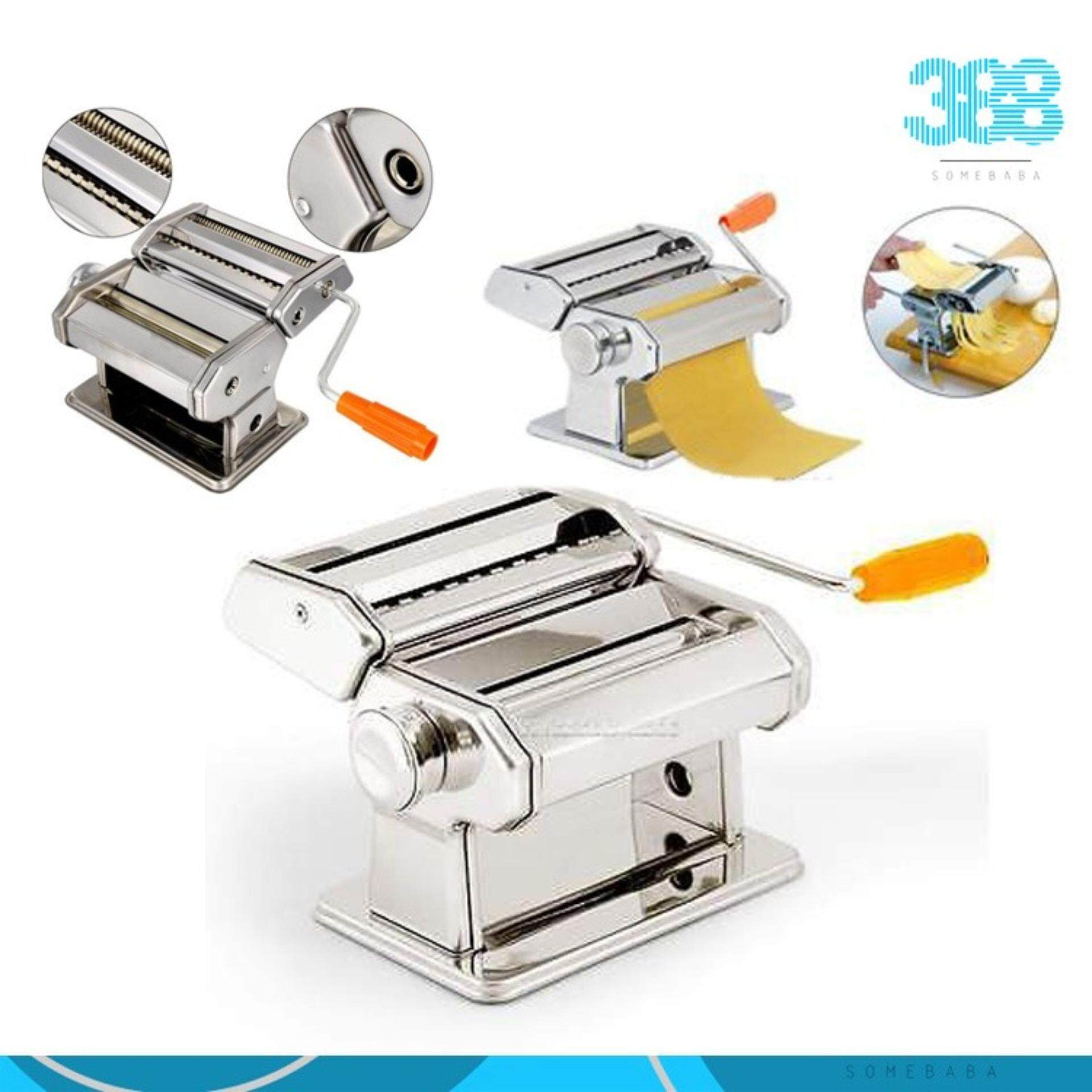 【 2  Layers 】High Quality Stainless Steel Manually Noodle Pasta Maker Machine Homemade Household