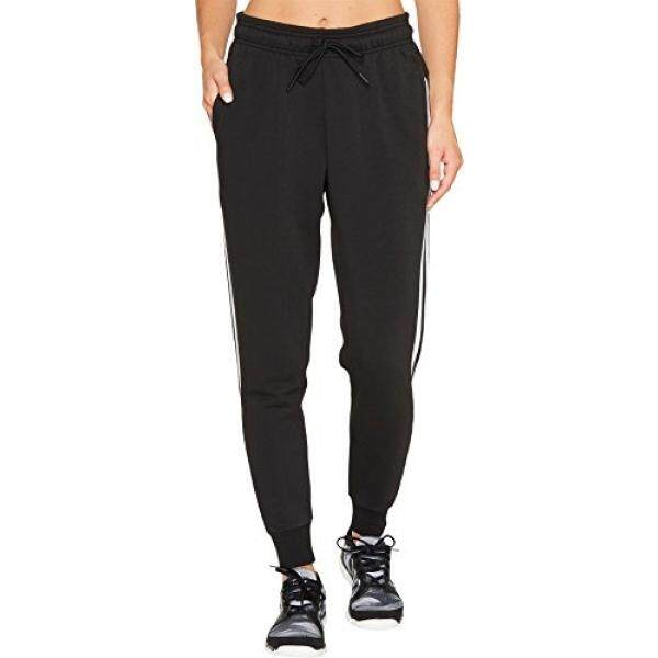 new arrival e61f3 bdb79 adidas Womens Athletics Essential Cotton Fleece 3-Stripe Jogger Pants,  BlackWhite,