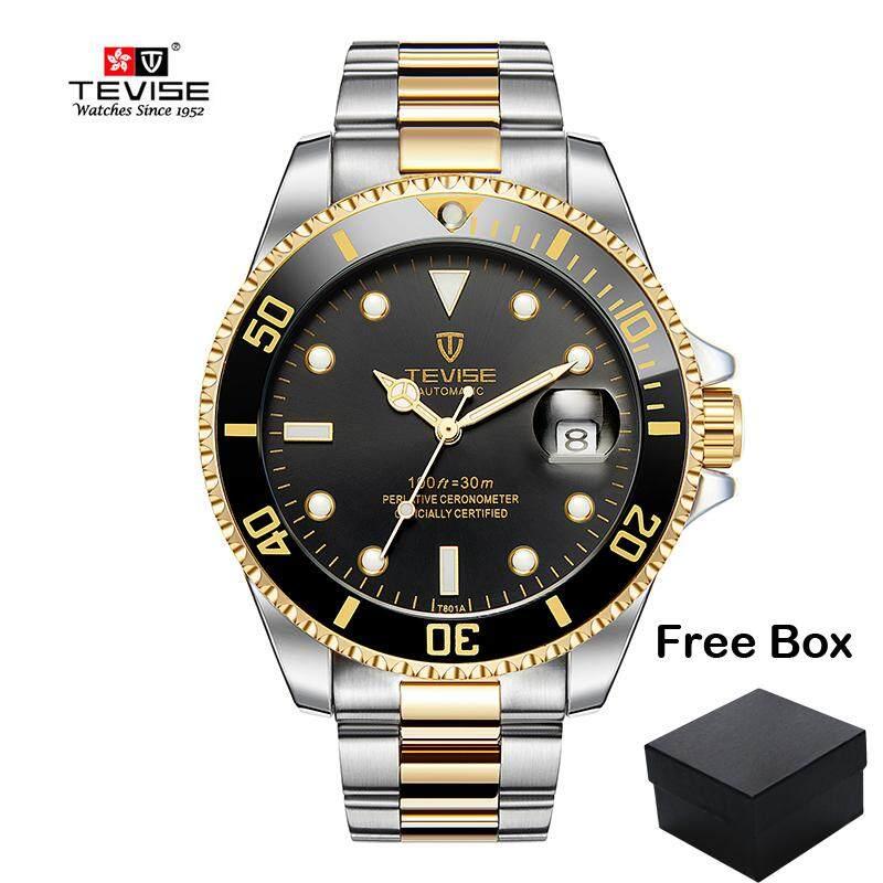 8de1647d7 TEVISE T801 Business Watch For Men Luxury Mechanical Watches Automatic Date  Stainless Steel Luminous Men's Wristwatch