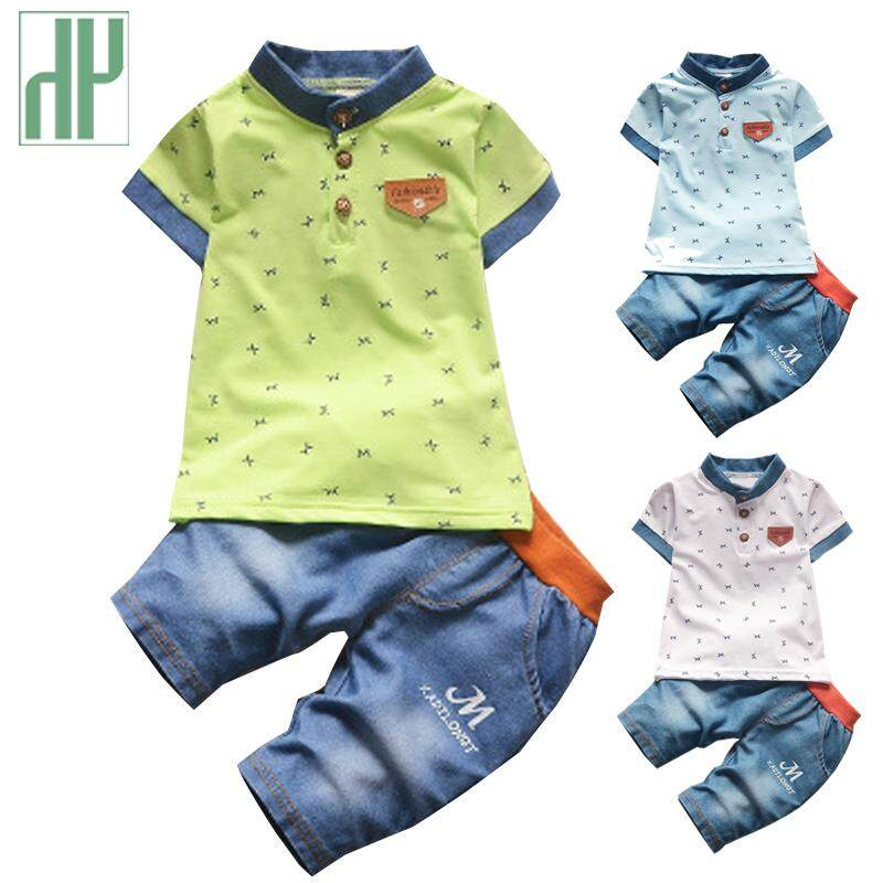 a9e0db1d0 Children clothing gentleman summer baby boy clothes casual kids sport suits  short-sleeved t-