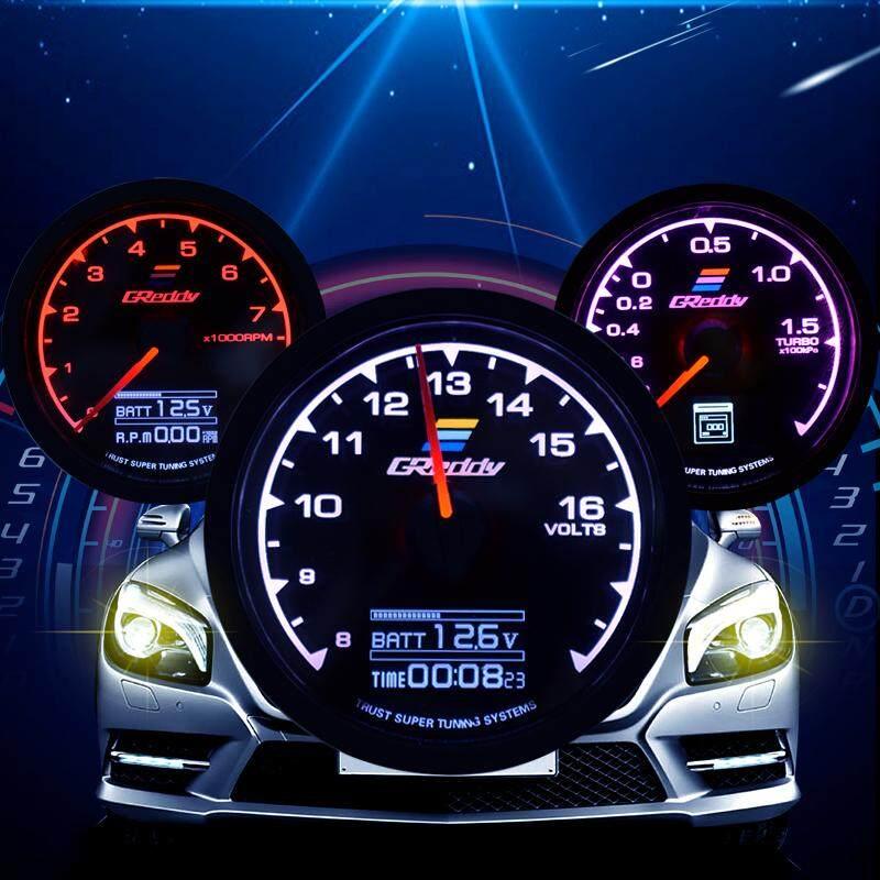 Racing Gauge 62mm 7 Color in 1 Car Meter 2.5 Inch Multi D/A LCD