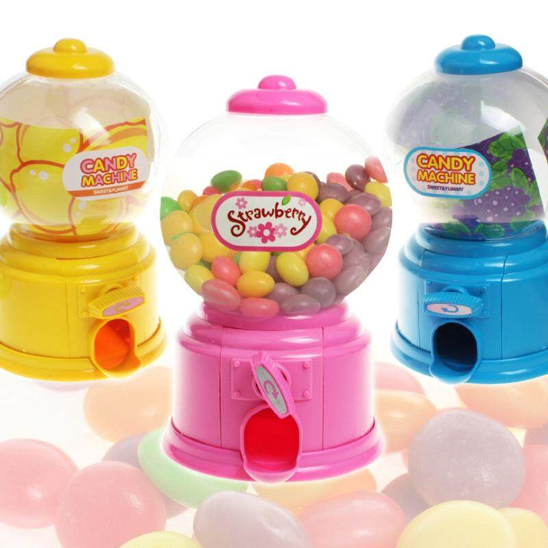 SBY Mini Candy Gumball Dispenser Vending Machine Toy Coin Money Saving Box  Piggy Bank Kids Gifts