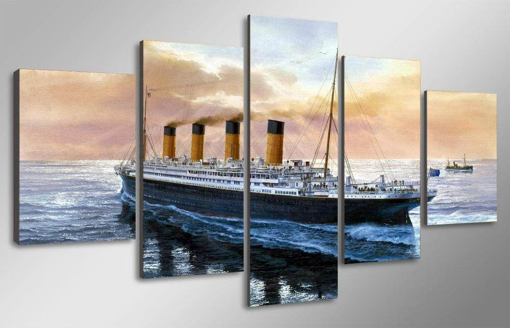 Features Unframed 5 Sets The Titanic Movie Boat Modern Home Wall ...
