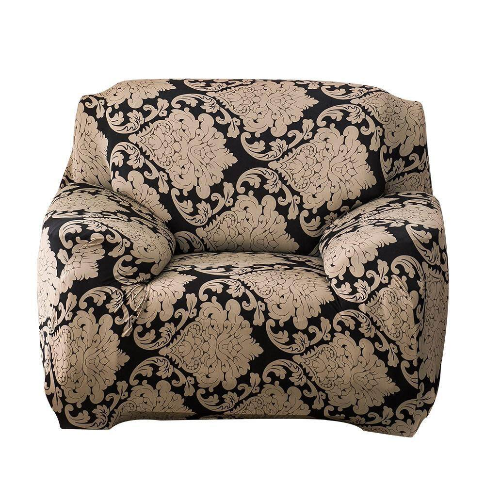 Aolvo Leaves Printed Stretch Sofa Slipcovers 1 Seater Cushion cover Sofa,Fit for 90-140cm Sofa
