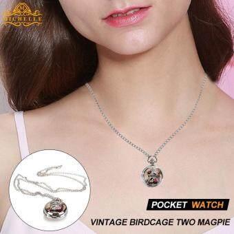 Beli sekarang Fob Jam Saku Jam Saku Fashion Kandang Burung Kuno Enamel  Kalung Rantai terbaik murah - Hanya Rp49.194 d9c0cc752e