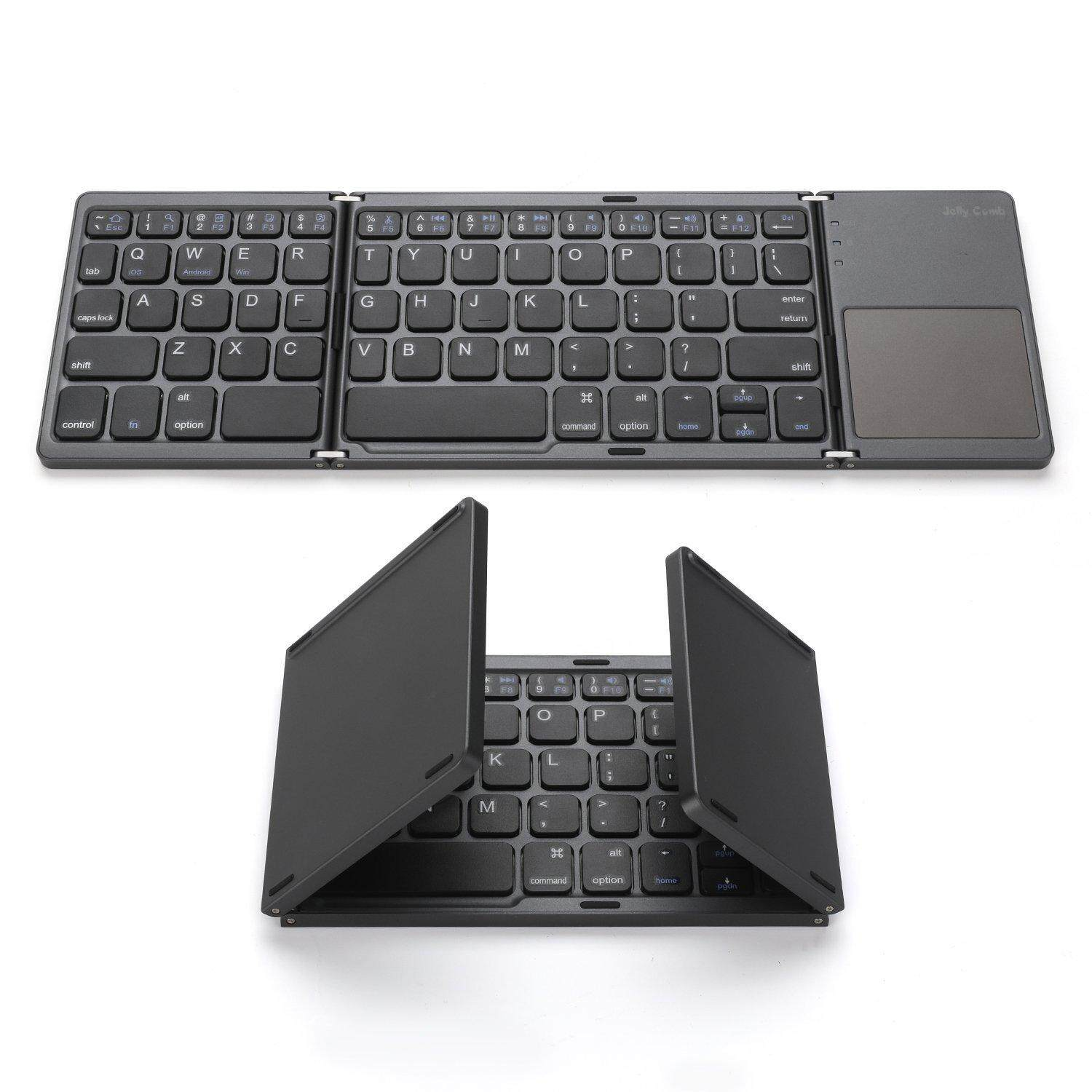 Universal Wireless Bluetooth 3.0 Foldable Keyboard with Touchpad Ultra Slim Mini Lightweight for iPhone iPad Samsung Tablet Malaysia