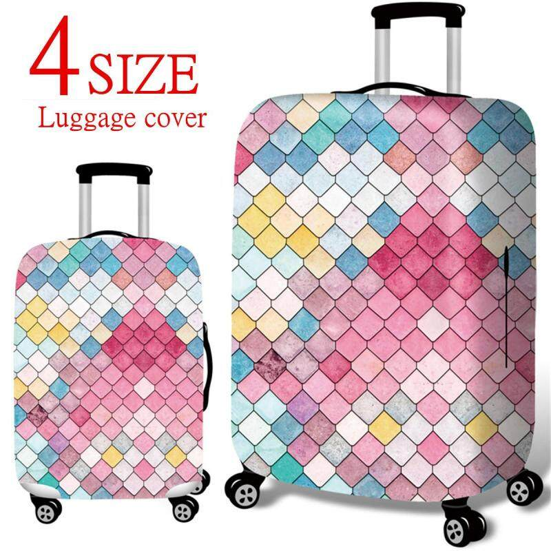 Honana Mermaid Embossment Style Elastic Luggage Cover Trolley Case Cover Durable Suitcase Protector # S
