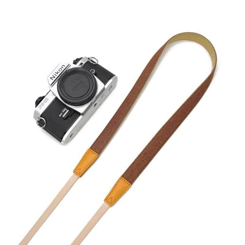 Camera Shoulder Neck Strap Belt Anti-Slip Adjustable Cotton Leather Strap Accessories