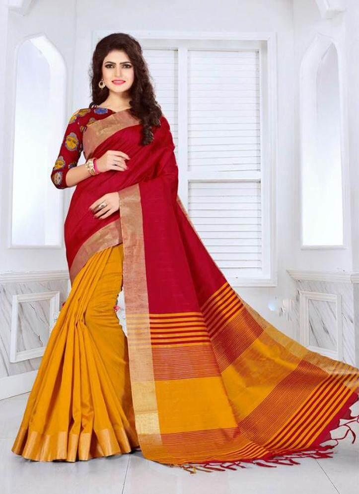 Kalamkari Cotton Red