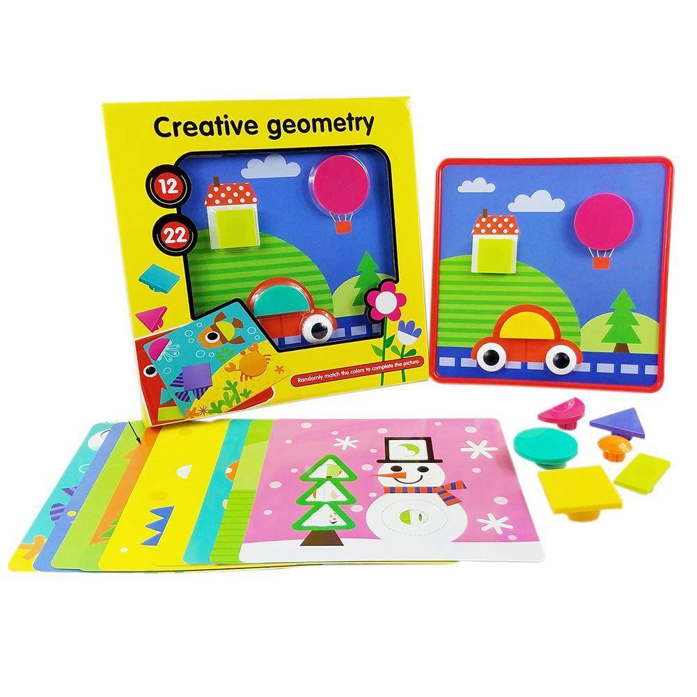 Hình ảnh Children 3D Puzzles Toys Creative Buttons Assembling Kids Educational Toy​s - intl