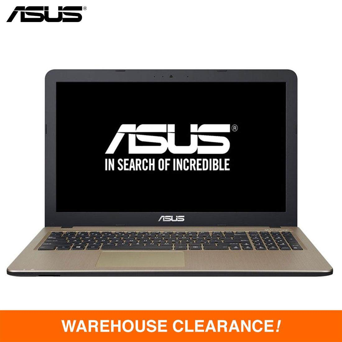 ASUS® VivoBook Max X441N-AGA139T Laptop - Intel Coleren N3350, 1.10GHz, 4GB DDR3, 500GB, 14-inch LED, Intel Share, DVDRW, Windows 10 Home (Black) Malaysia