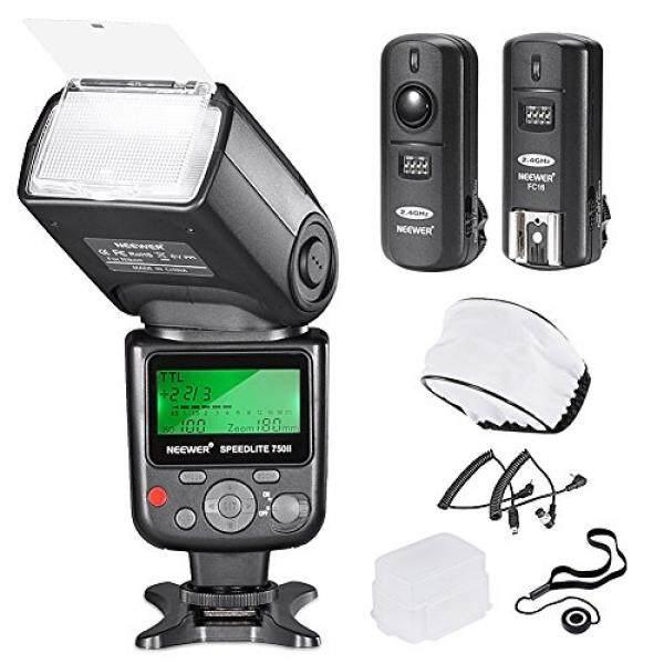 Neewer PRO i-TTL FlashDeluxe Kit for NIKON DSLR D7100 D7000 D5300 D5200 D5100 D5000 D3200 D3100 D3300 D90 D800 D700 D300 D300S D610, D600, D4 D3S D3X D3 D200 N90S F5 F6 F100 F90 F90X D4S D SLR Camera- Includes: Neewer VK750 II Auto-Focus Flash + Wire