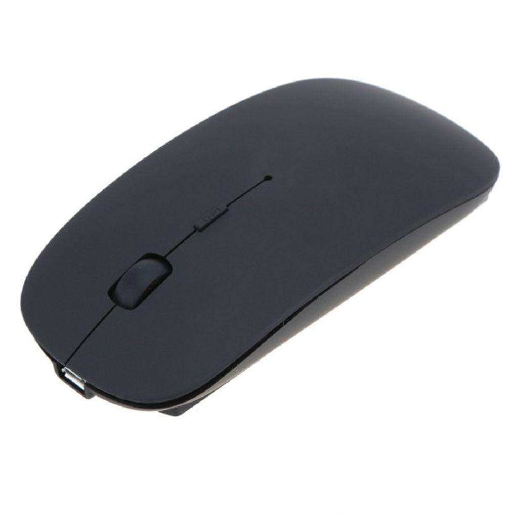 Mouse Nirkabel 1600 DPI 4 Tombol Ergonomis 2.4 GHz Mouse Tanpa Kabel untuk PC Desktop Laptop Windows Komputer