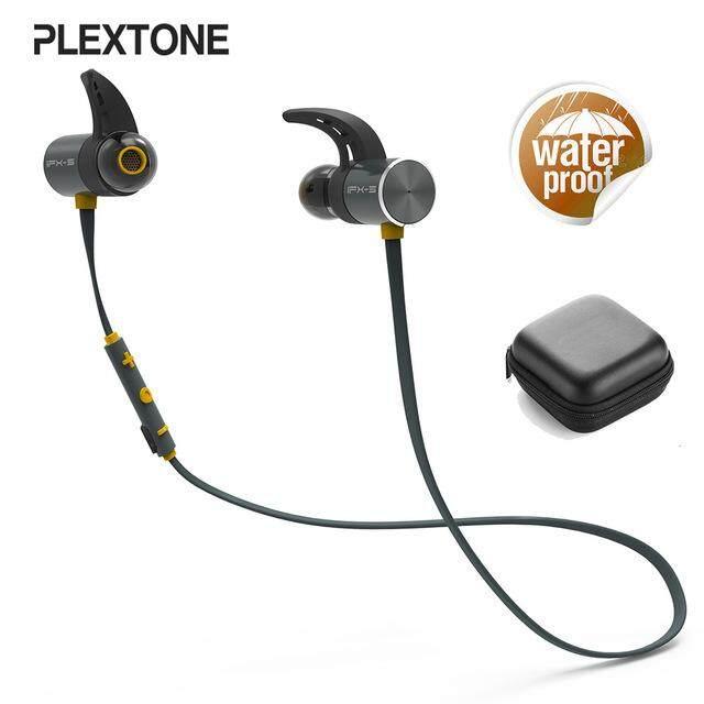 PLEXTONE BX343 Headphone Bluetooth Nirkabel IPX5 Korek Kuping Tahan Air Magnetic Headset Earphone dengan Mikrofon-