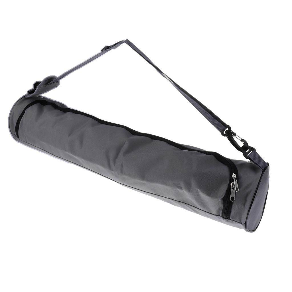 Miracle Shining Waterproof Yoga Mat Carrier Bag Nylon Carrier Adjustable Strap 73cm Gray