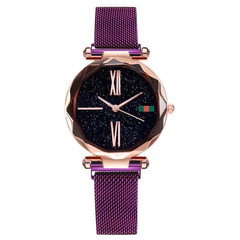 Gogoey Women นาฬิกาสแตนเลสนาฬิกา Starry Sky นาฬิกาควอตซ์