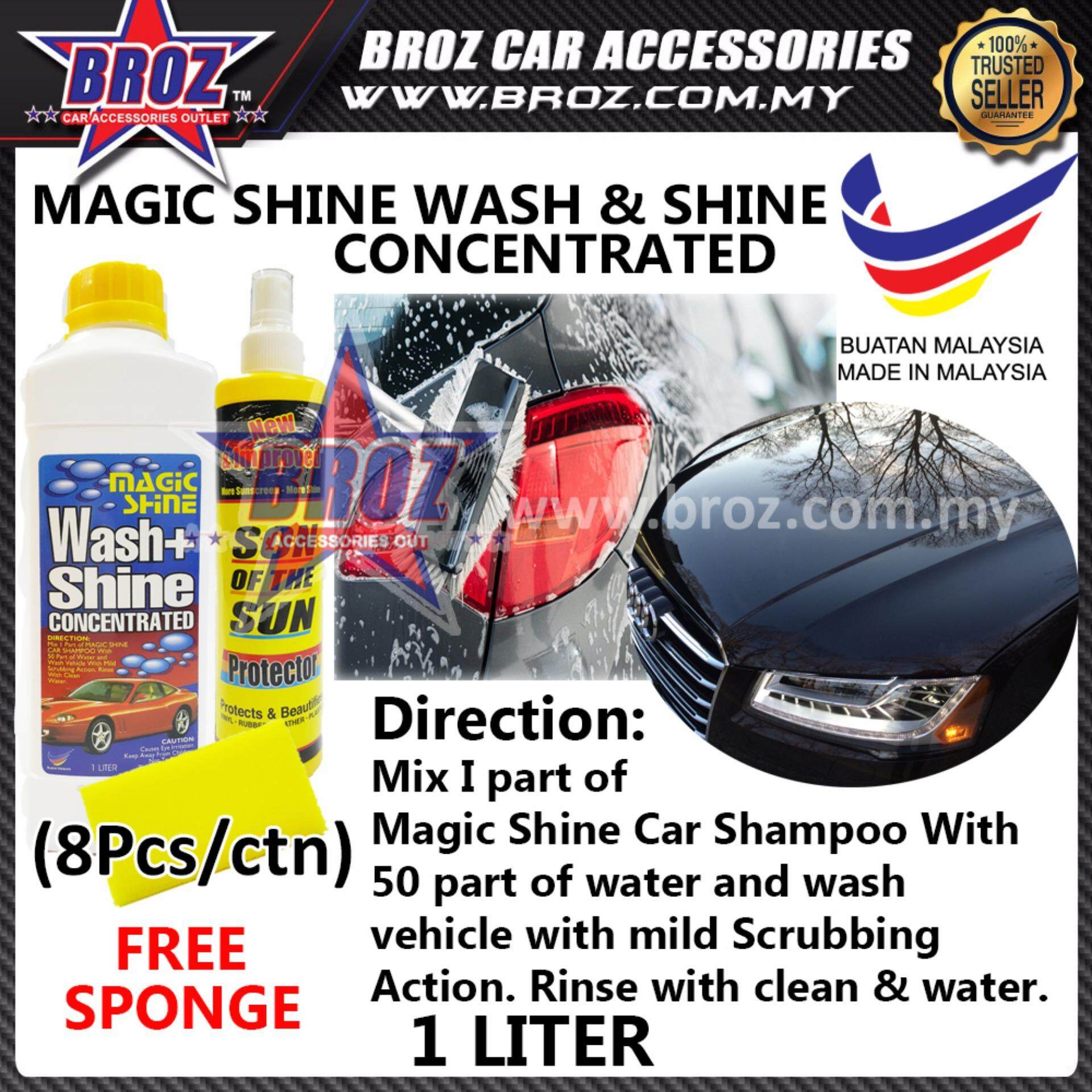 8pcs Shine 99 Magic Shine Car Shampoo Cleaner 1 Litre + Sun Of The Son (Bulk Package)