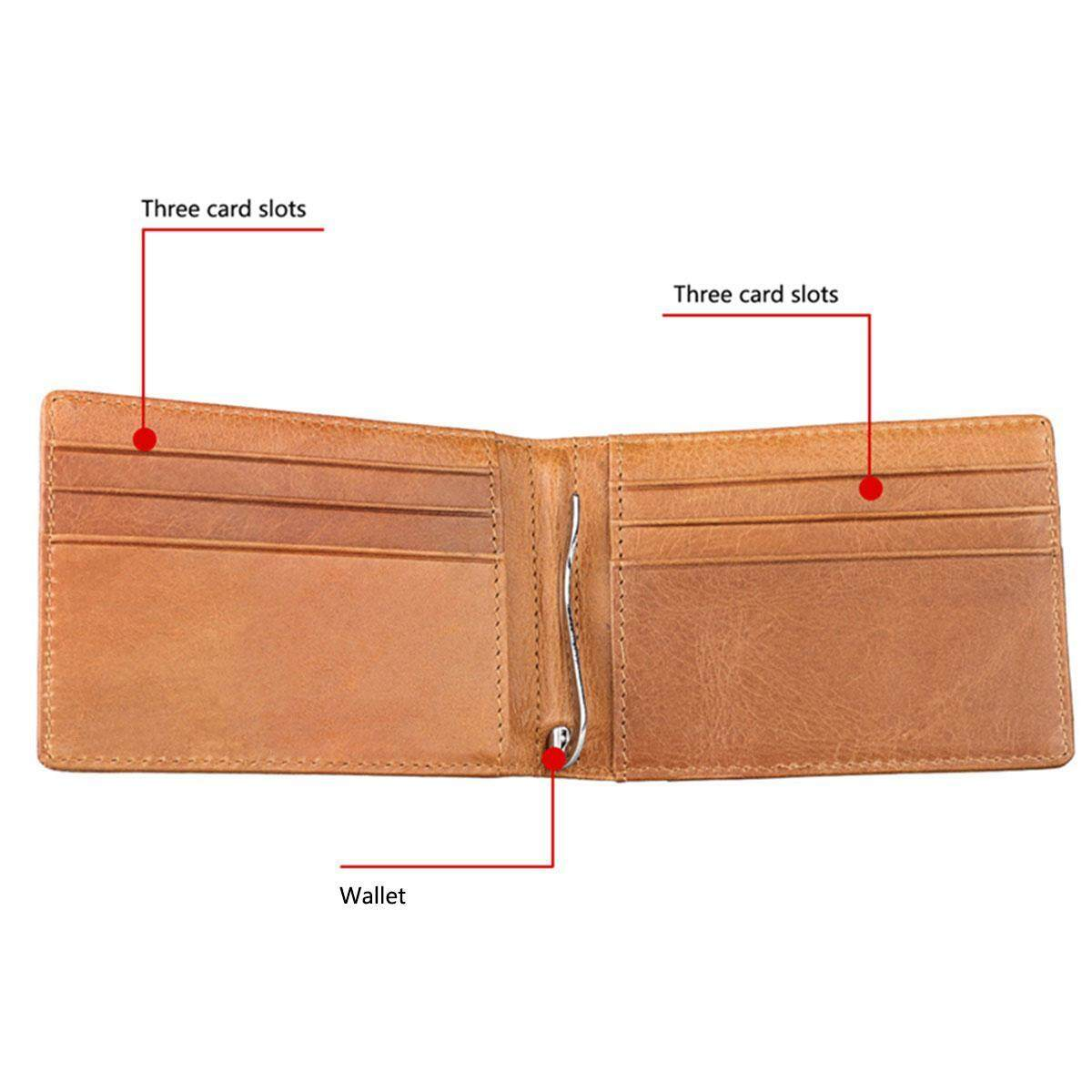 ed3ecf89 SeaLavender Vintage style Leather Silver Money Clip Multi Card Wallet  Wallet,Rfid Classical Business Casual Slim Wallet Holder for Men and Women