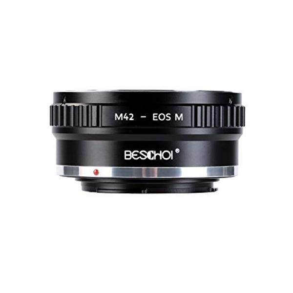 Beschoi M42-EOS M Objektivadapter, Objektiv Adapterring F? R M42 42 Penyangga Mm Objektive Auf Canon EOS-M Systemkamera-Intl
