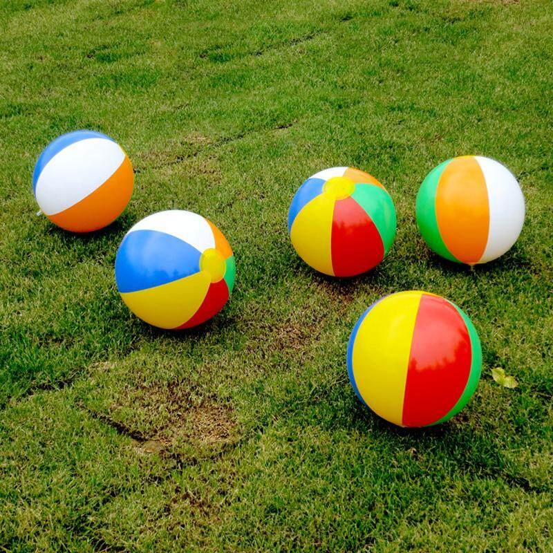 23CM Kids Beach Pool Play Ball Inflatable Children Rubber Soft Swimming Splash Toys