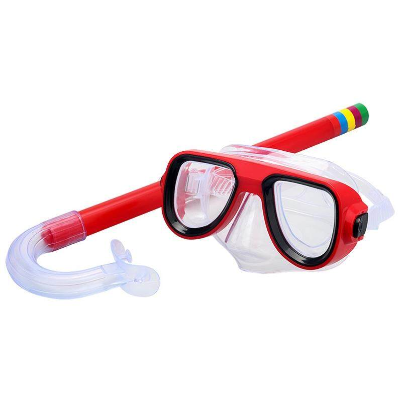 Diving Mask Set Including Mask Snorkel Practical Mask Set For Kids (orange) By Taopanda.