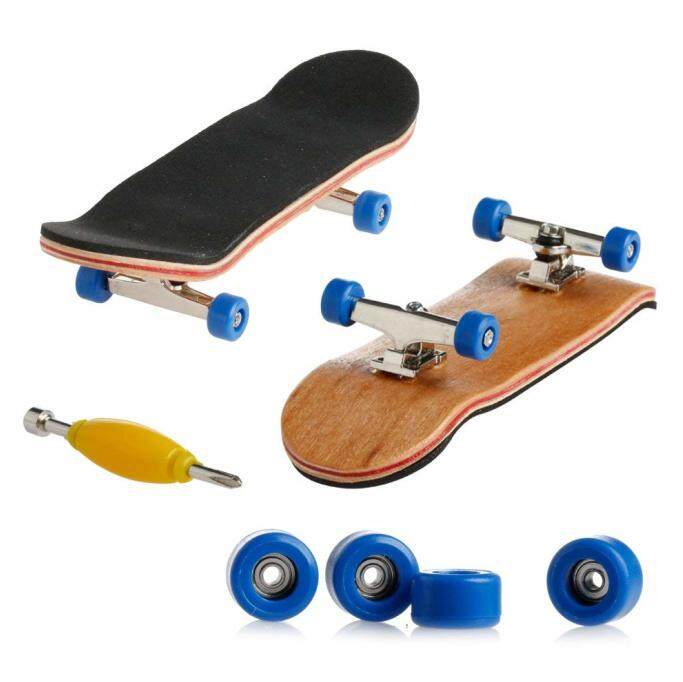 Cenblue Funny Maple Wood Finger Kids Skateboards Nickel Alloy Stents Bearing Wheel Fingerboard (multicolor) By Utalqc.