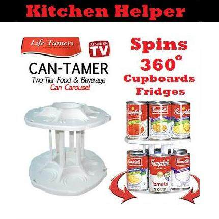 Can Tamer - Modern Age Drinks Can Tamer 2 Tier Spinning Carousel Cans Storage & Organizer