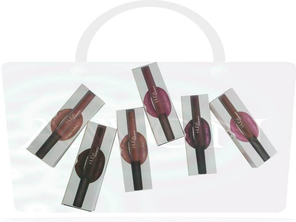 Branded Matte Lip Gloss 6 Gorgeous Colors With Two Free Lip Liner