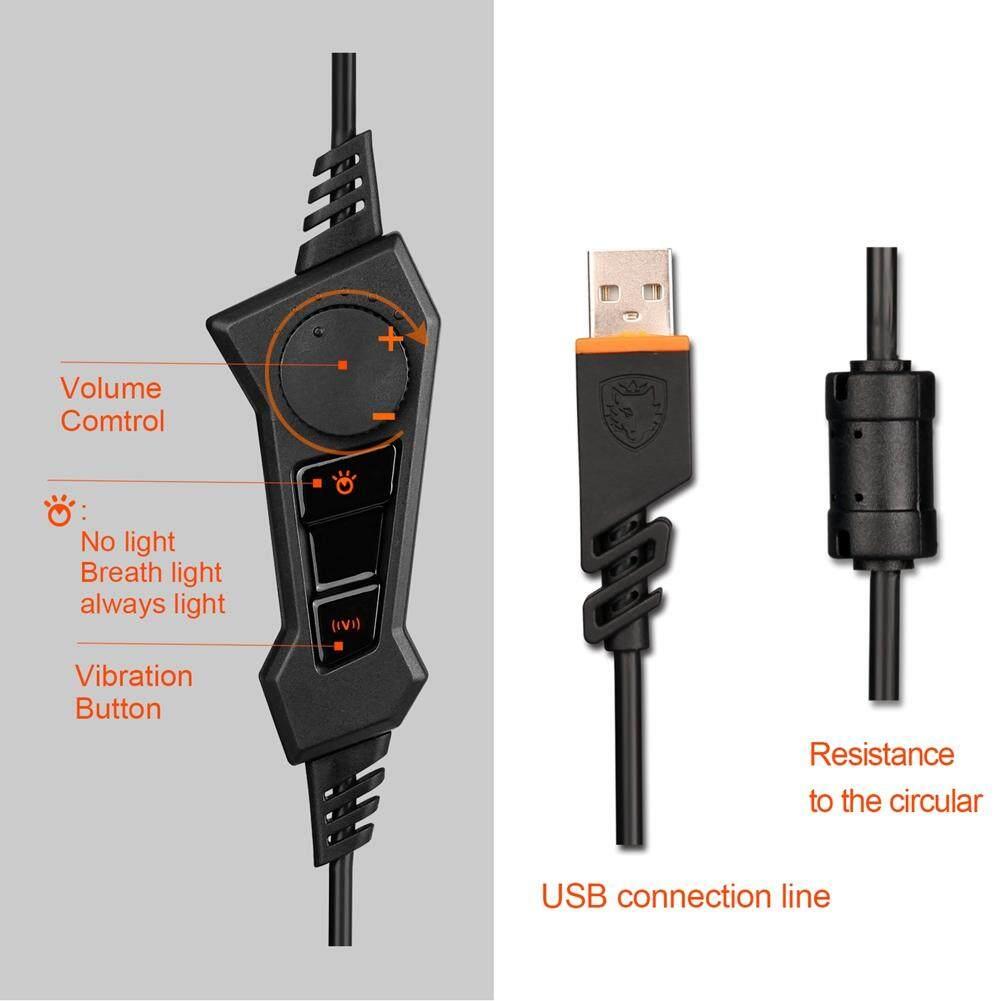 Kelebihan Sades Usb 7 1 Digital High Definition Stereo Surround Gaming Headset Tpower Sa 701 71 Computer Headphone Black Silvery 3