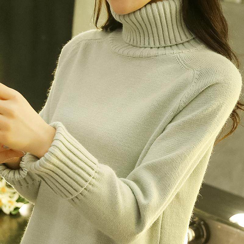 High Collar Sweater women dress for women Spring Clothing New Style 2019 Korean  Style Loose Pullover e73e1b35a