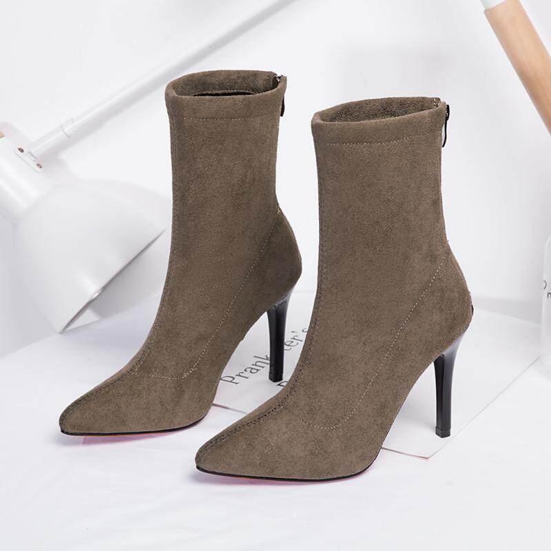 Sepatu Boots Wanita 2018 musim gugur musim dingin model baru sepatu bot  pendek wanita bagian depan af436d2c0f