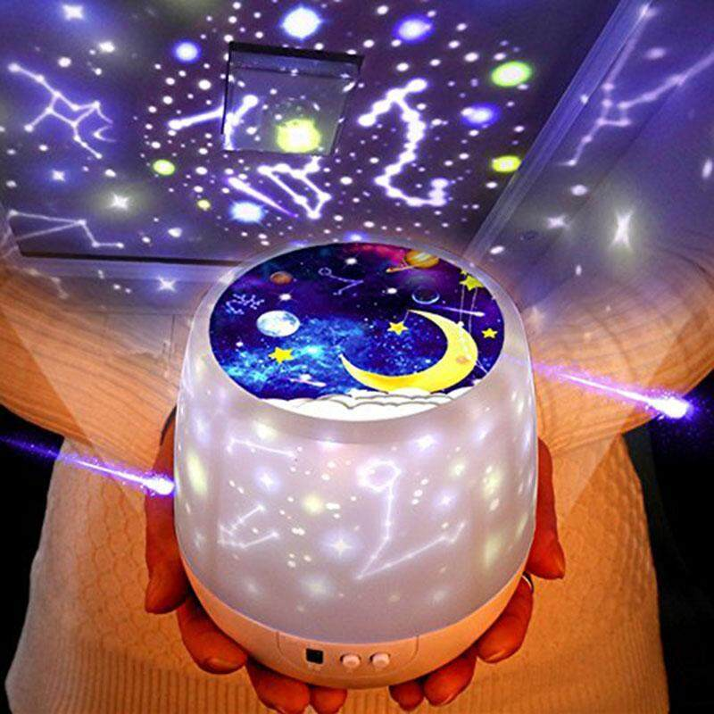 Leegoal Star Night Light For Kids Universe Projection Romantic Starry Constellation Birthday Christmas Projector Lamp For Bedroom